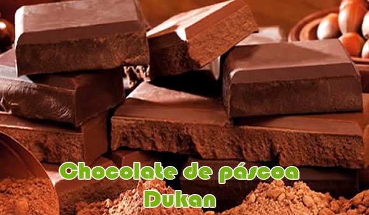 receita fit chocolate caseiro dukan pascoa light