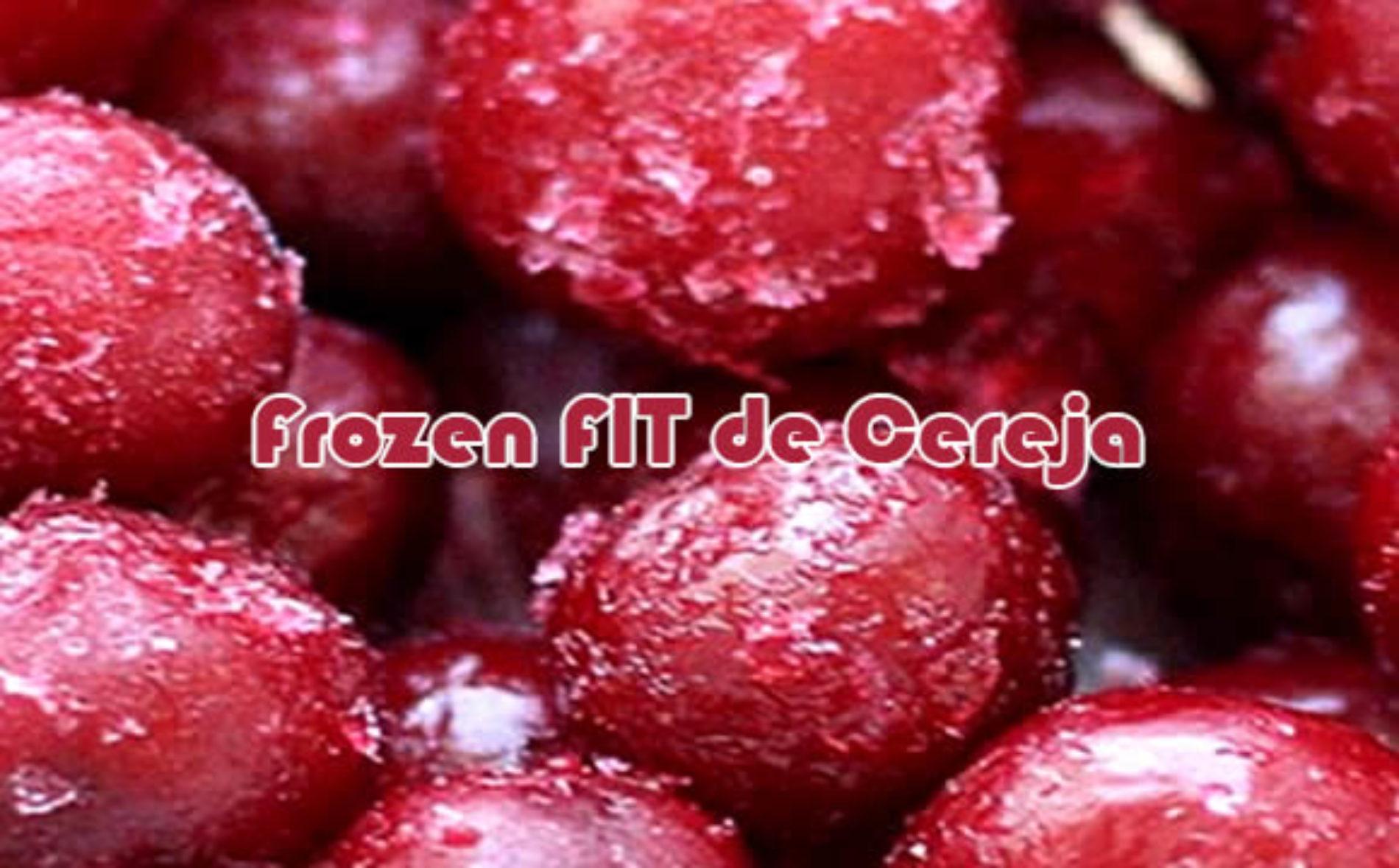 Frozen FIT de cereja muito fácil