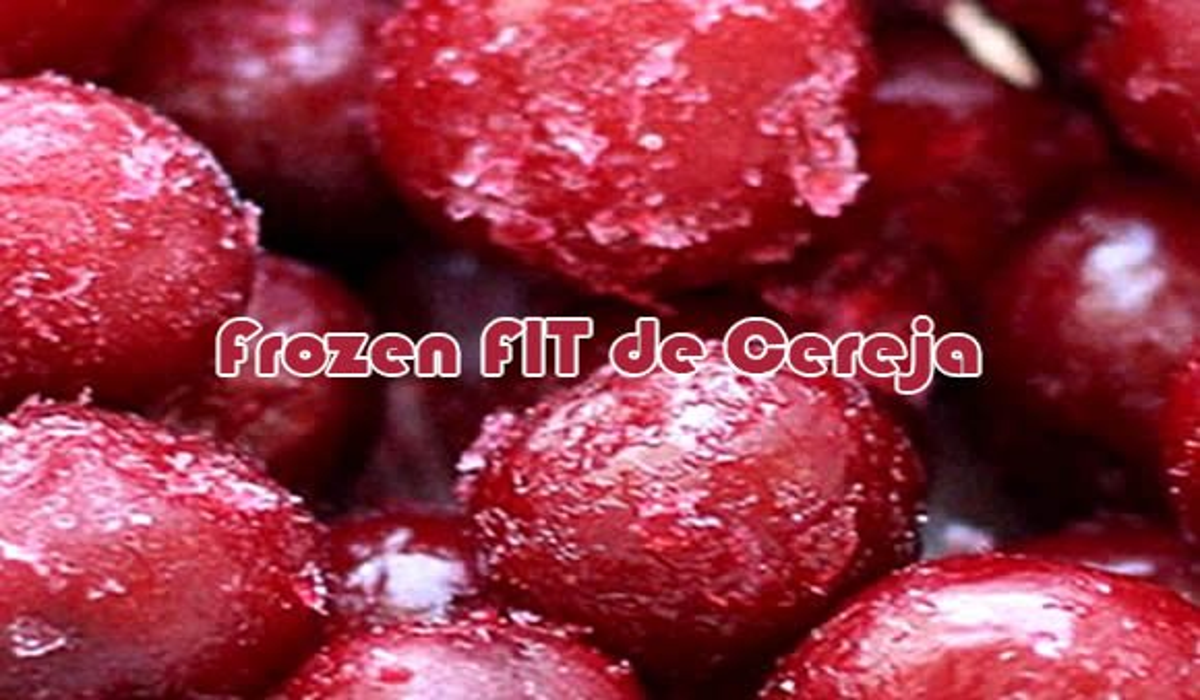 receita frozen fit de cereja suco clight