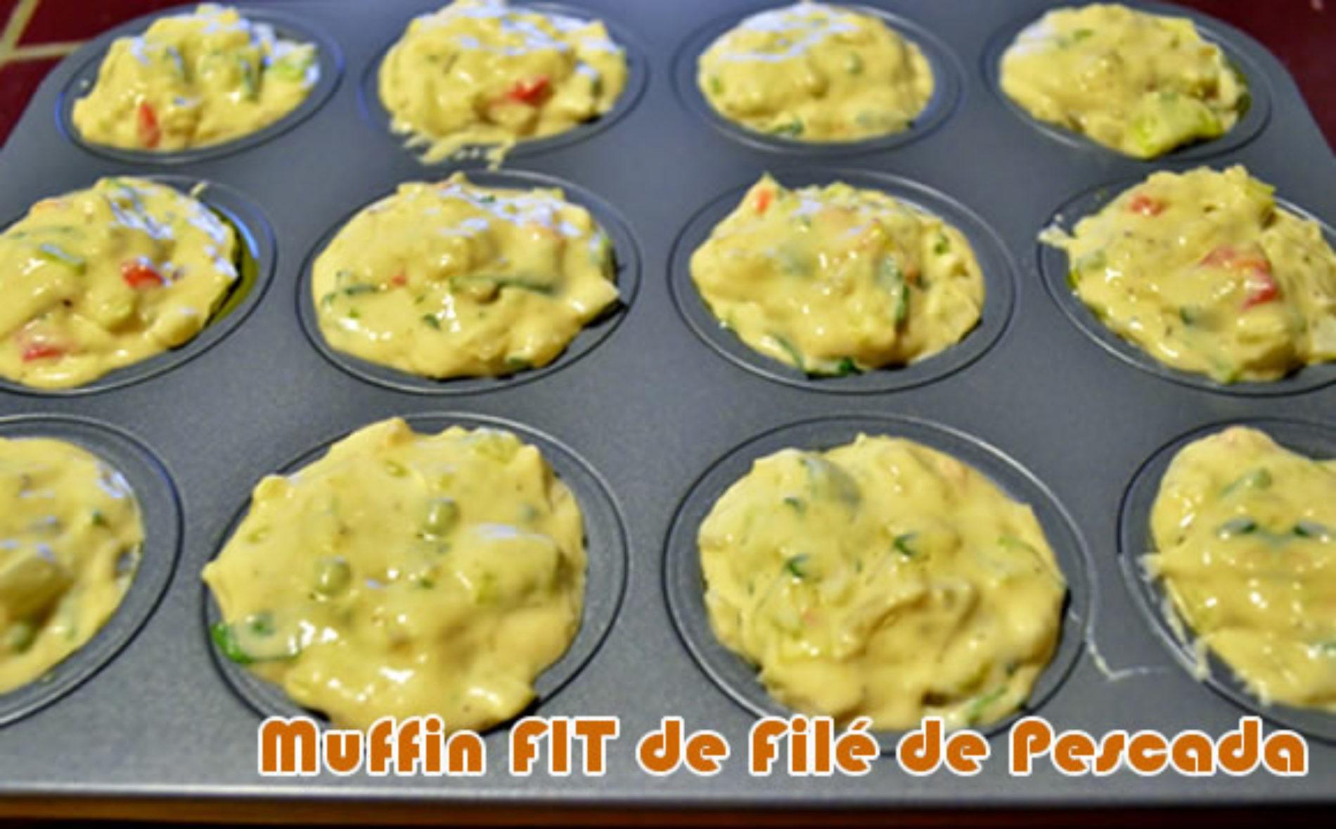 Muffin de filé de pescada FIT