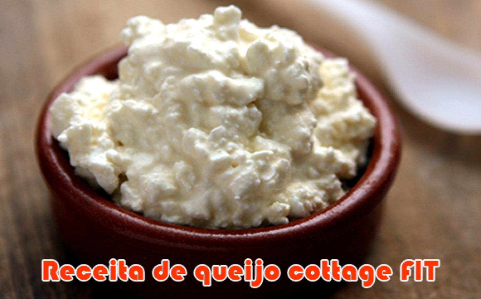 Receita FIT de queijo cottage caseiro