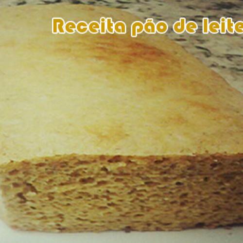 Receita FIT de pão de leite em pó sem farelos