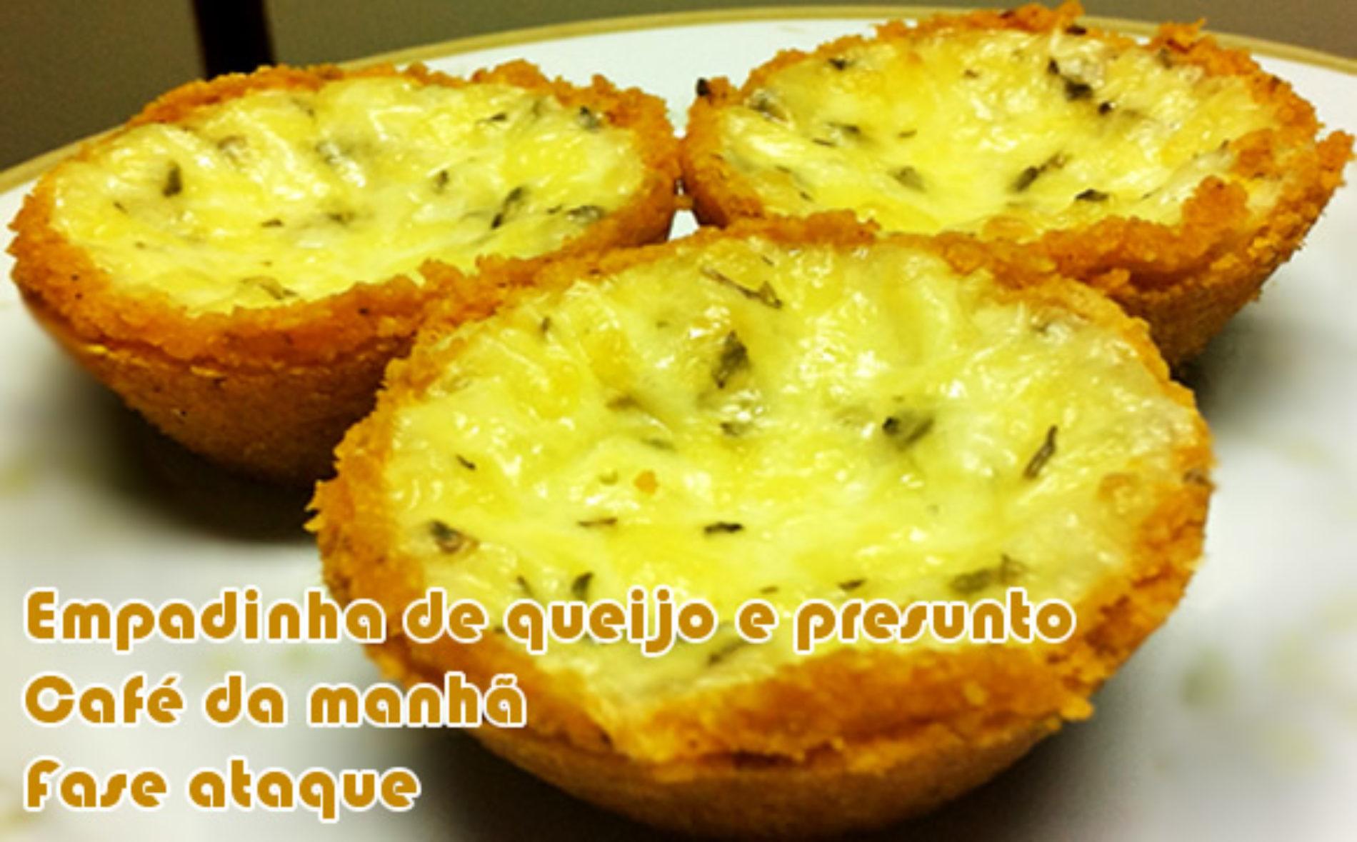 Empadinha dukan de queijo e presunto