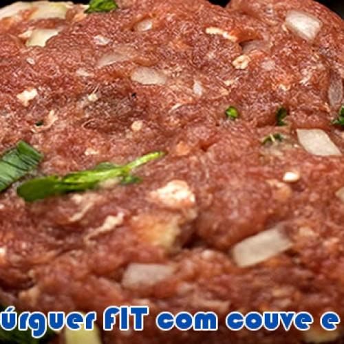Hambúrguer FIT de carne com couve e aveia