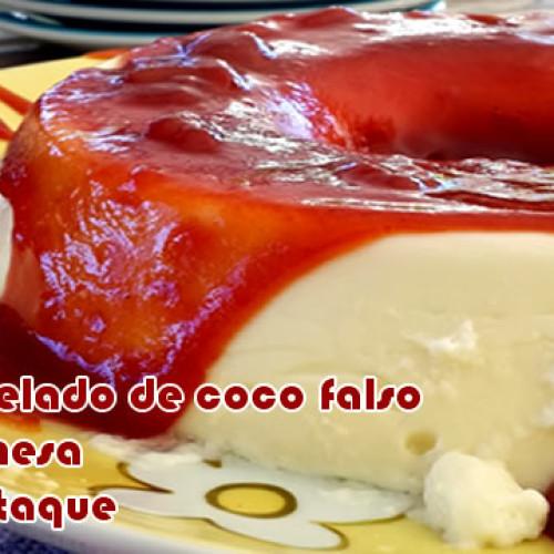 Bolo gelado falso de coco dukan