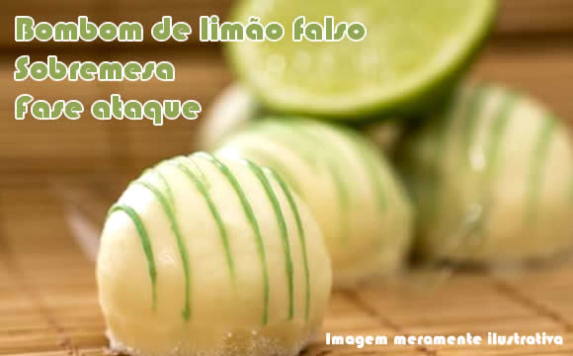 Bombom falso de limão dukan
