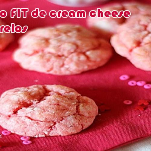 Biscoito de cream cheese com morango falso FIT