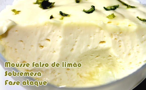 receita light mousse falso de limao dukan ataque