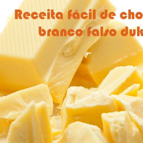 Receita fácil de Chocolate branco falso dukan