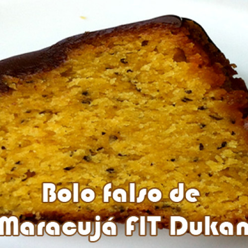 Bolo falso de Maracujá FIT no microondas