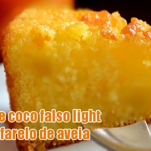 Bolo de coco falso light e dukan
