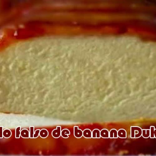 Bolo falso de banana com canela Dukan