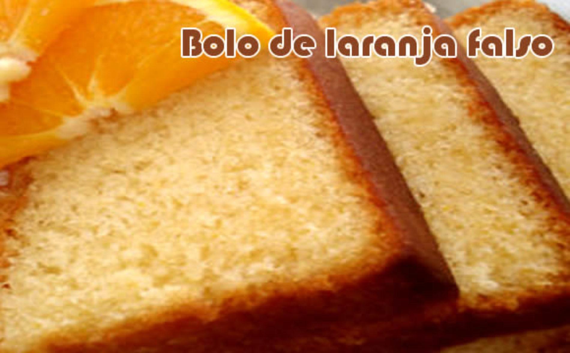 Bolo de laranja falso – Receita light com farelos