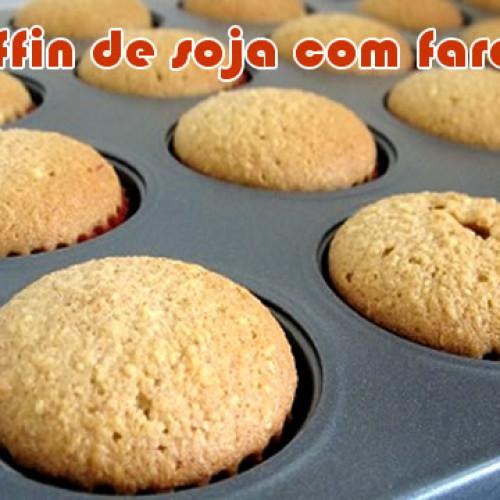 Muffin Dukan de soja com farelo de aveia