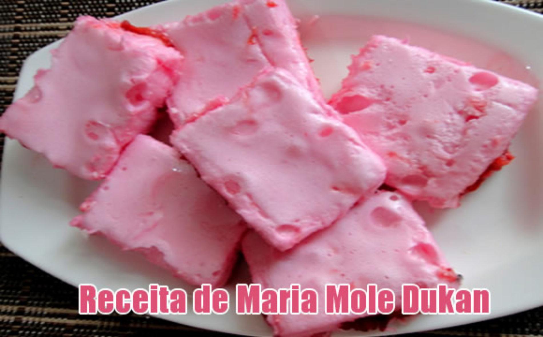 Maria Mole de claras com sabor de morango – Dukan e FIT