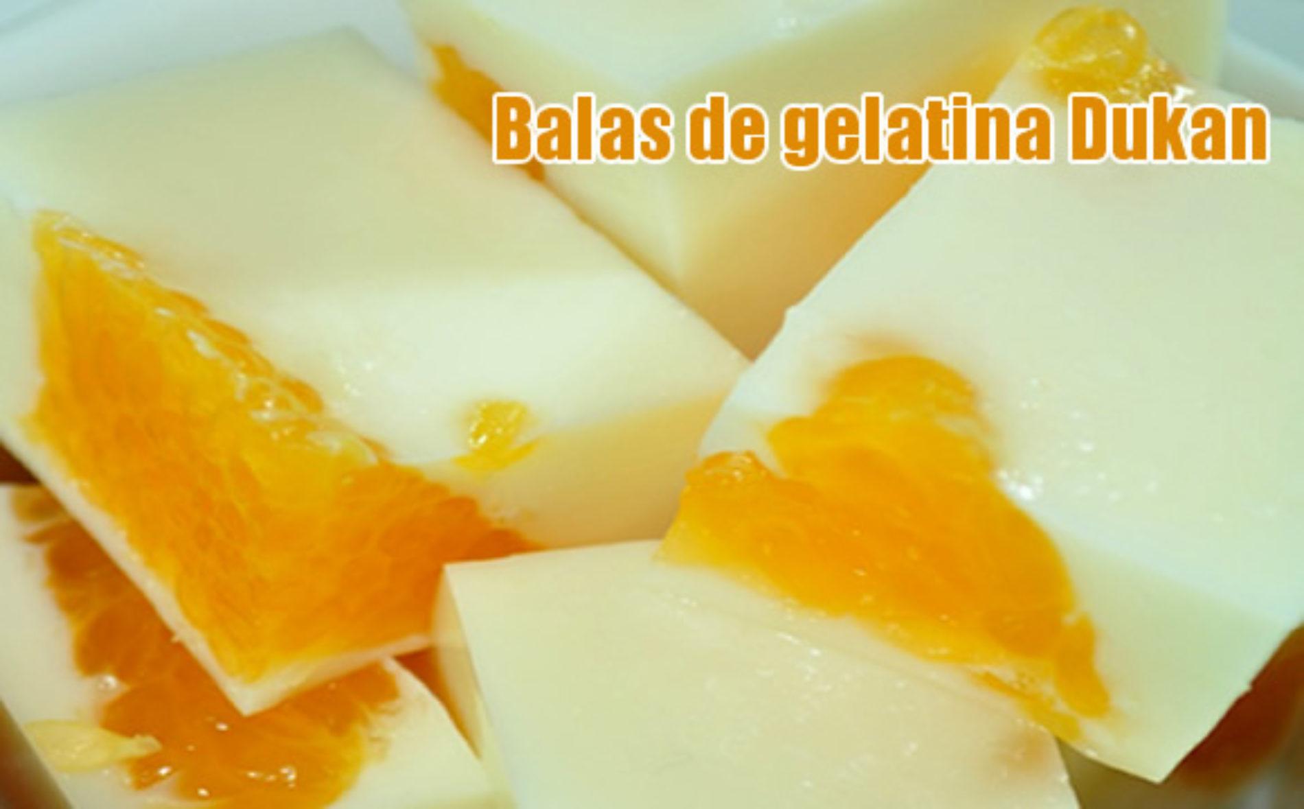 Balas de gelatina Dukan