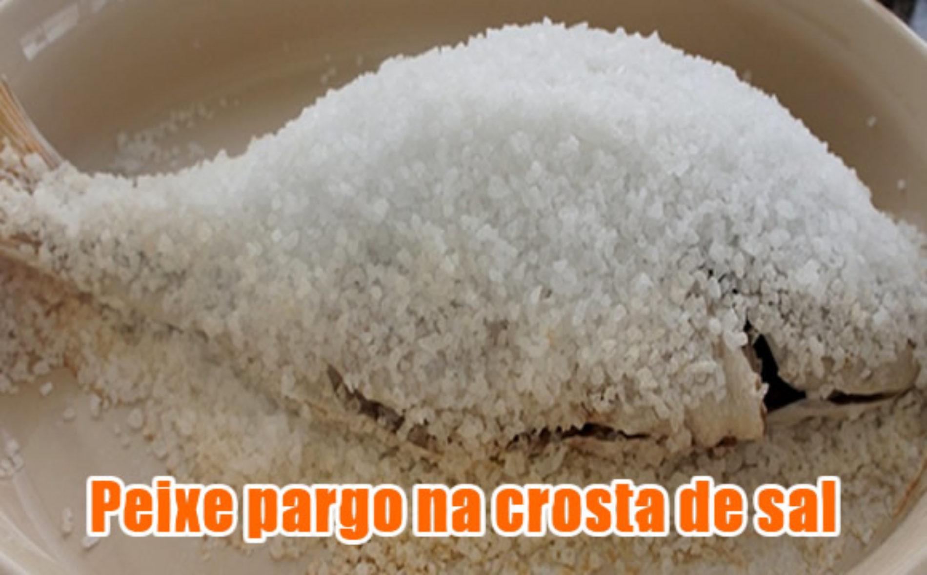 Peixe Pargo com crosta de sal e ervas Dukan