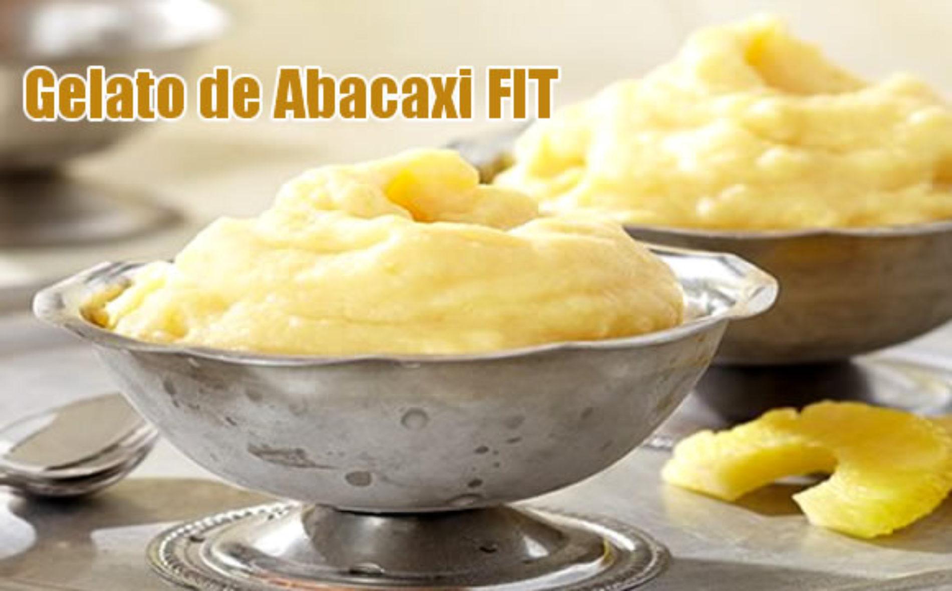 Gelato FIT de abacaxi com iogurte desnatado