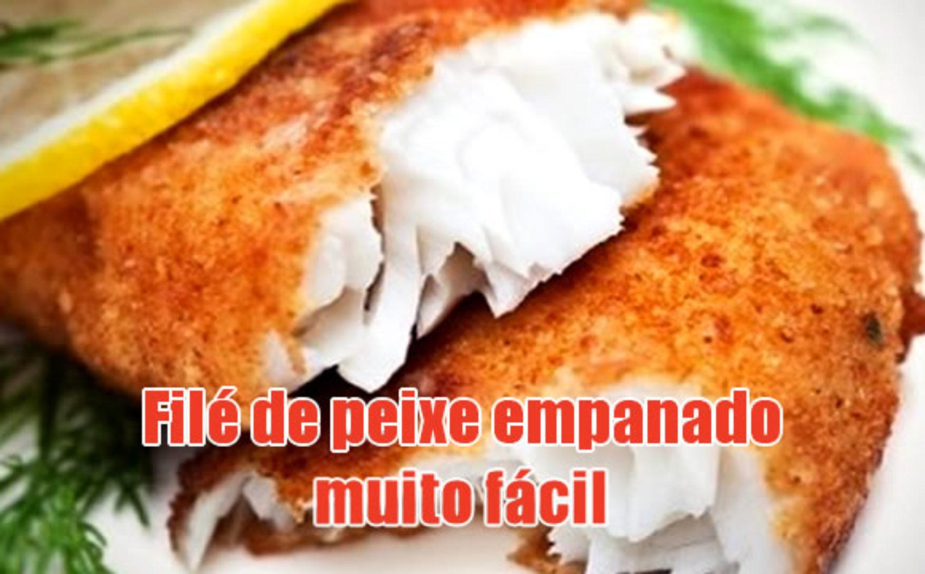 Filé de peixe empanado FIT e Dukan