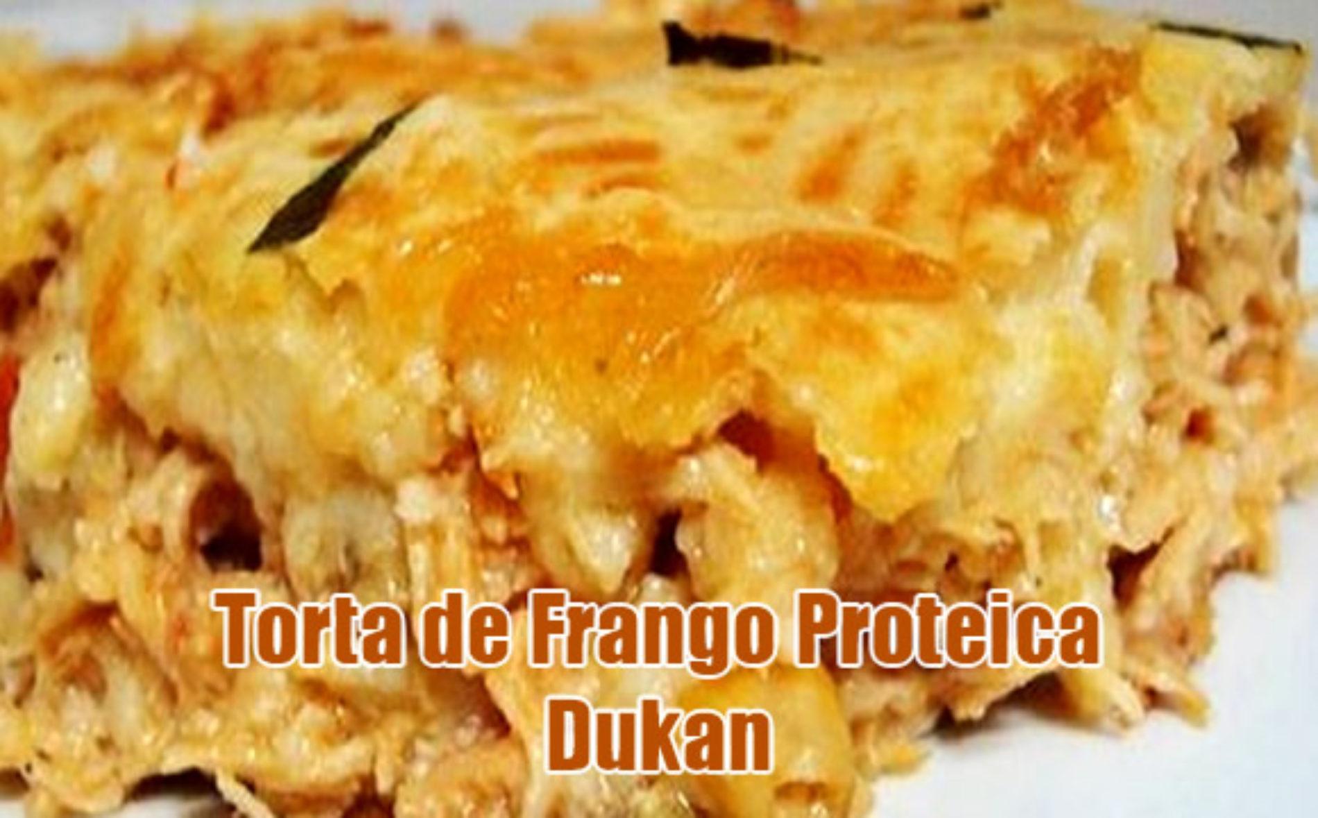 Torta Ataque Dukan com Frango e Farelos