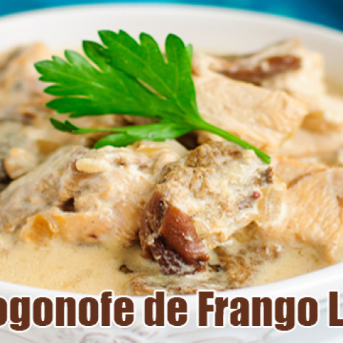 Estrogonofe de frango FIT – Strogonoff Light