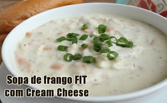 receita fit sopa de frango com cream cheese