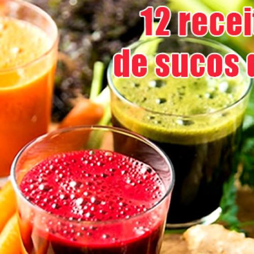 Doze receitas de sucos detox naturais seca barriga