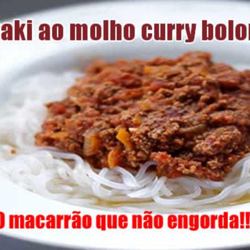 Macarrão Shirataki ao molho curry bolonhesa Dukan