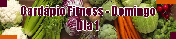 cardapio fitness domingo