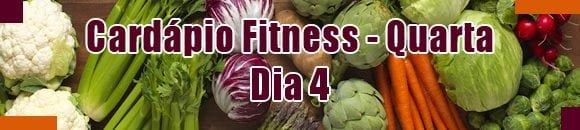 cardapio fitness quarta feira