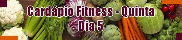 cardapio fitness quinta feira