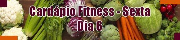 cardapio fitness sexta feira