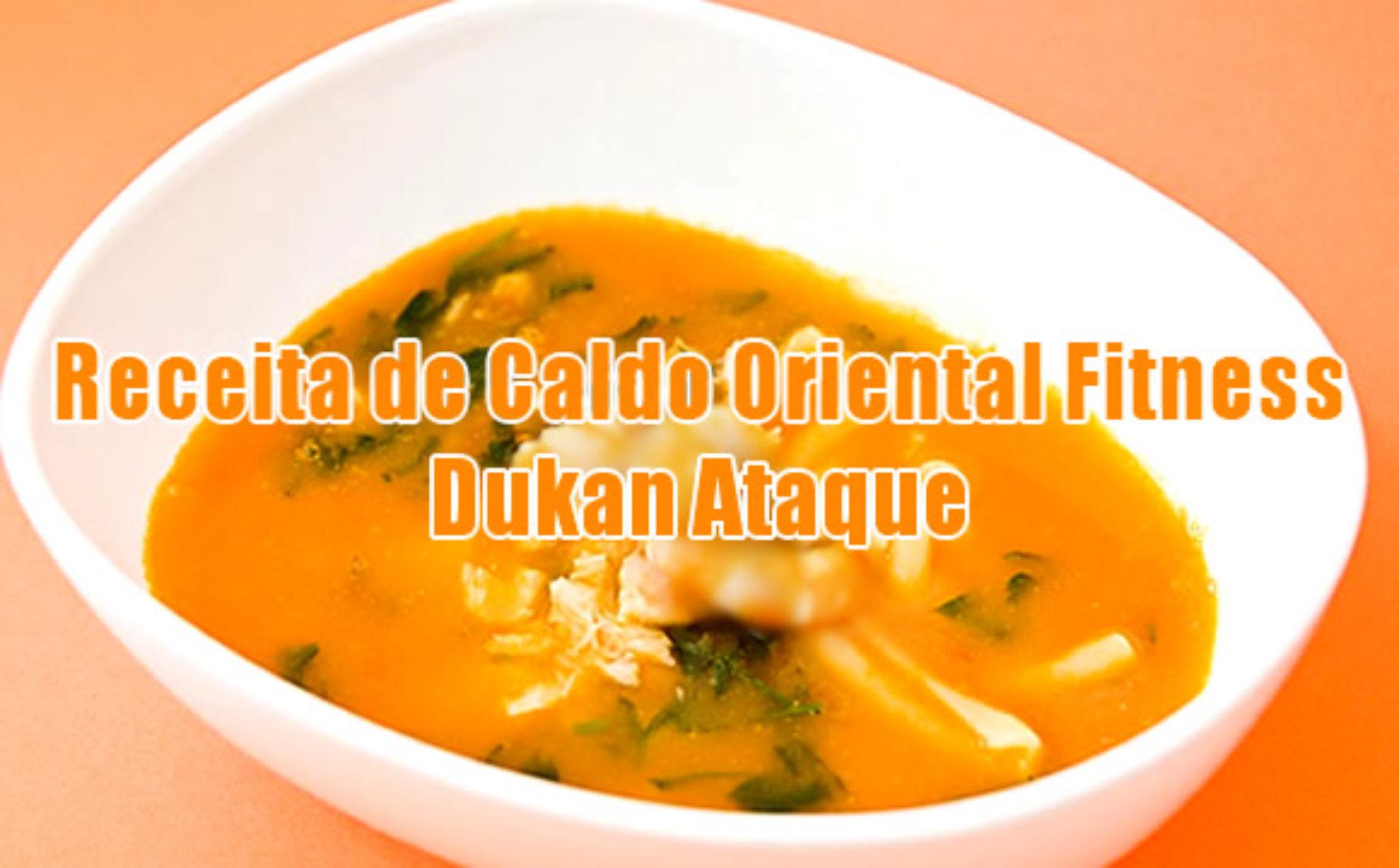Caldo Oriental com salmão Dukan – Receita FIT ataque