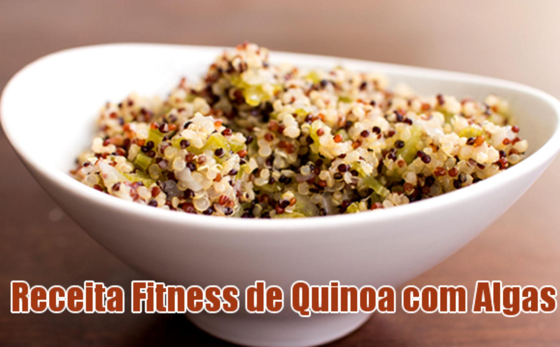 Receita FIT de Quinoa com Algas