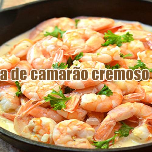 Camarão cremoso Dukan delicioso e fácil