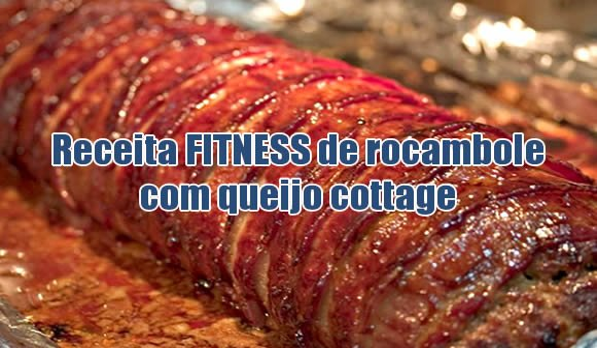 rocambole fitness carne queijo cottage dukan