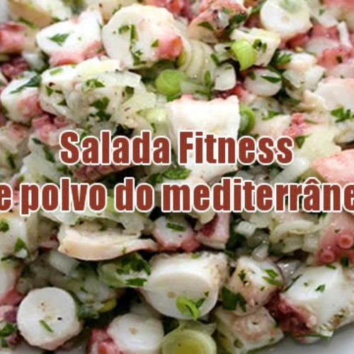 Salada Fitness de polvo do mediterrâneo