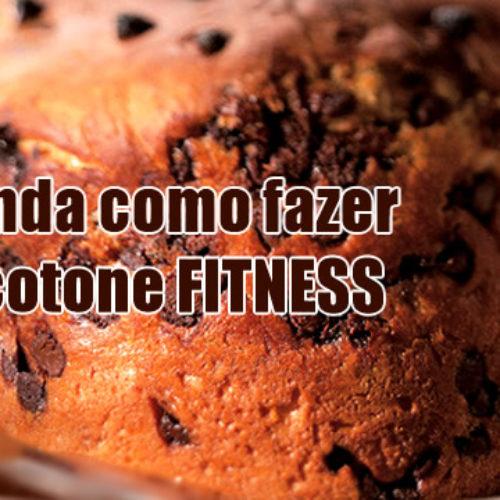 Chocotone de natal Fitness