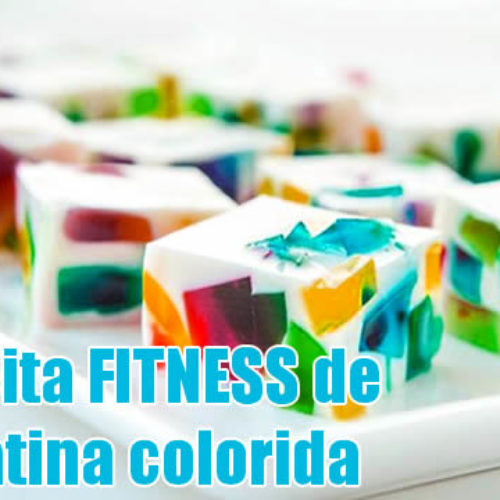 Gelatina FIT Diet colorida com pudim de baunilha light