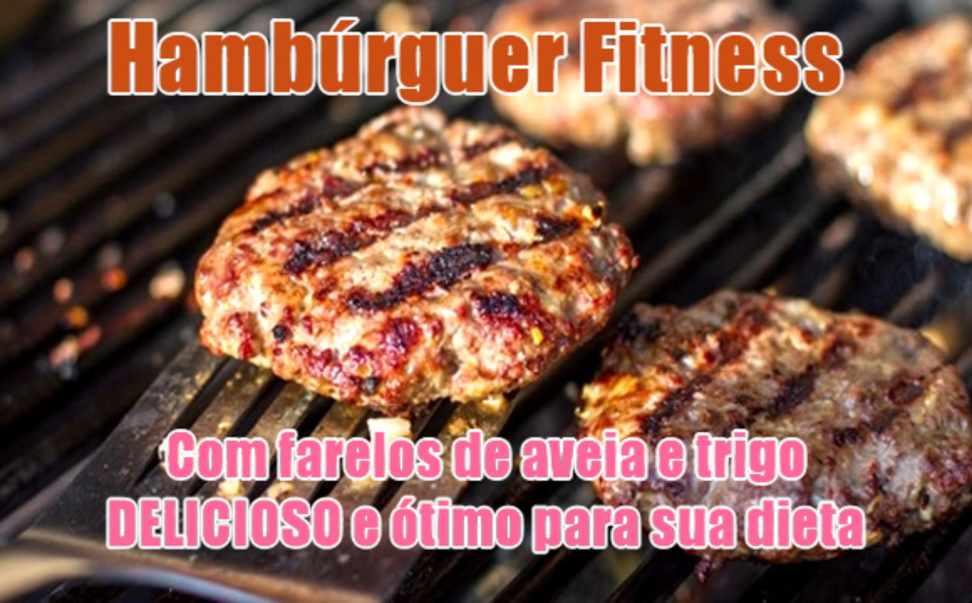 Hambúrguer Fitness com farelos de Aveia e Trigo
