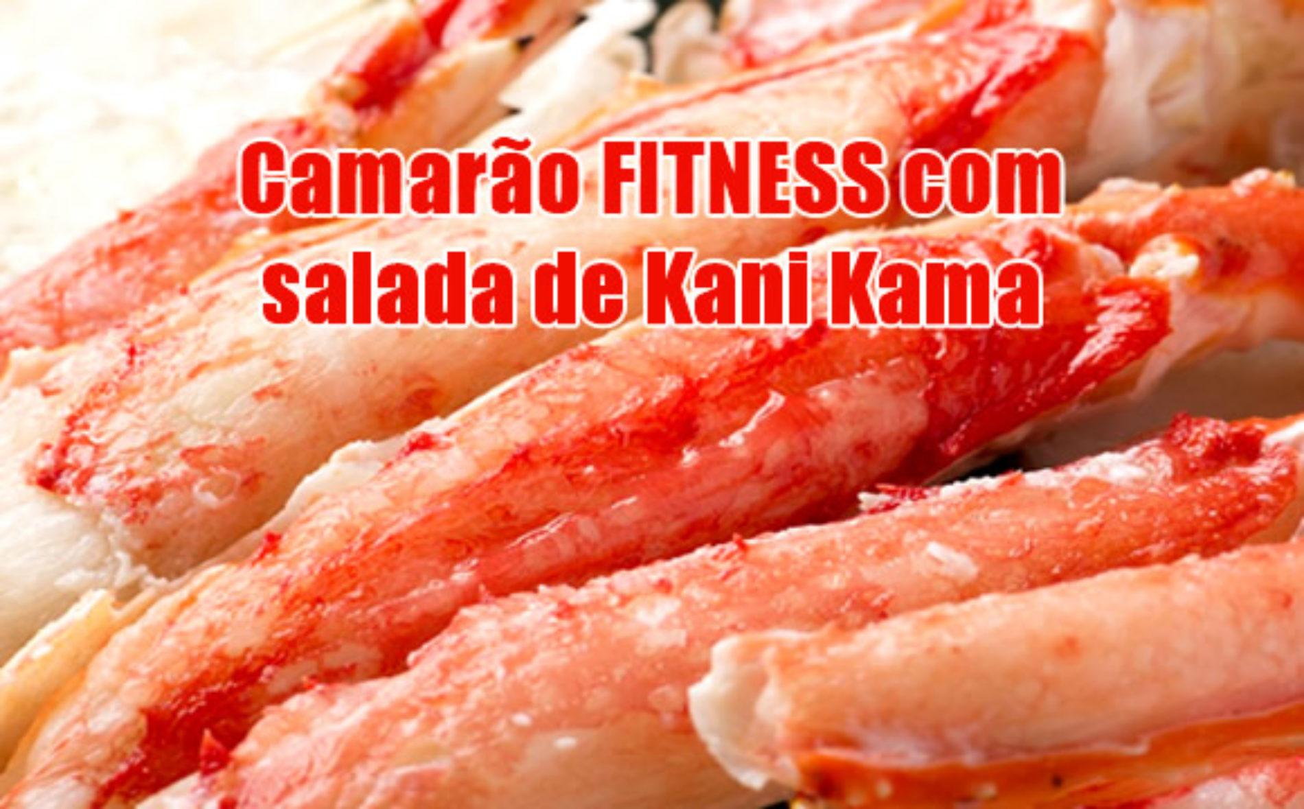 Camarão Fitness proteico com salada de Kani