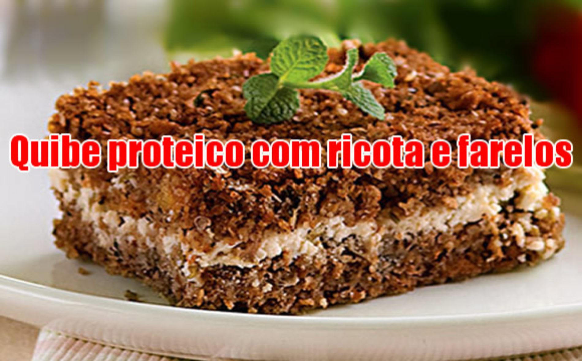 Quibe proteico Dukan com ricota e farelos
