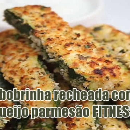 Abobrinha FIT recheada com queijo Low Carb
