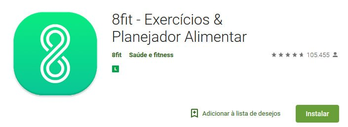 aplicativo 8 fit exercicios dieta