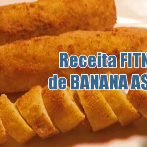Receita de banana assada fitness