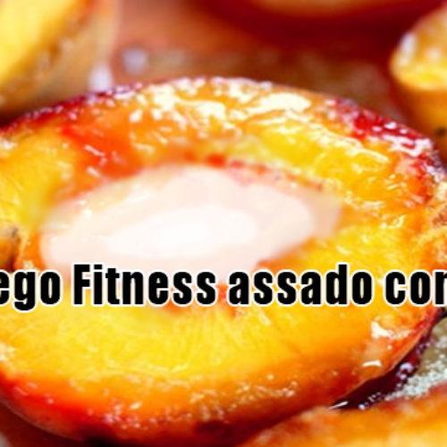 Pêssego Fitness assado com mel