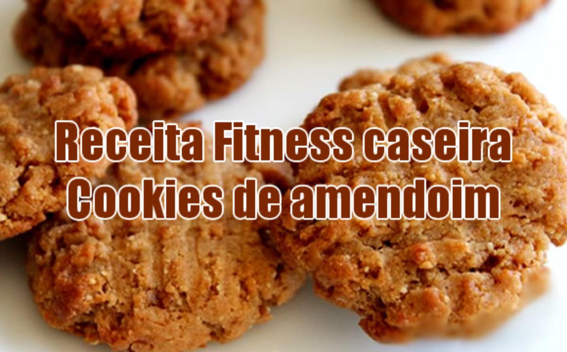 Cookies fitness caseiros de amendoim