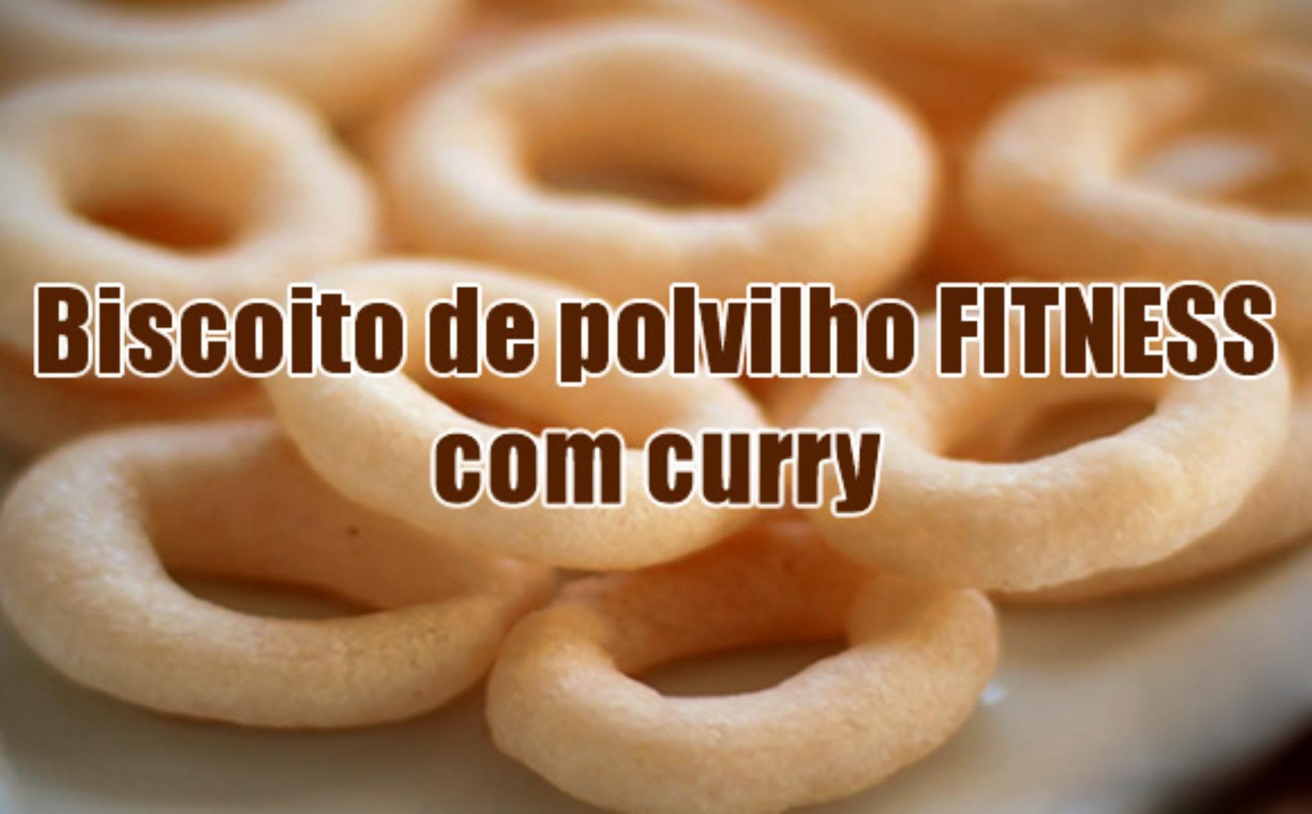 Biscoito de polvilho fitness caseiro com Curry