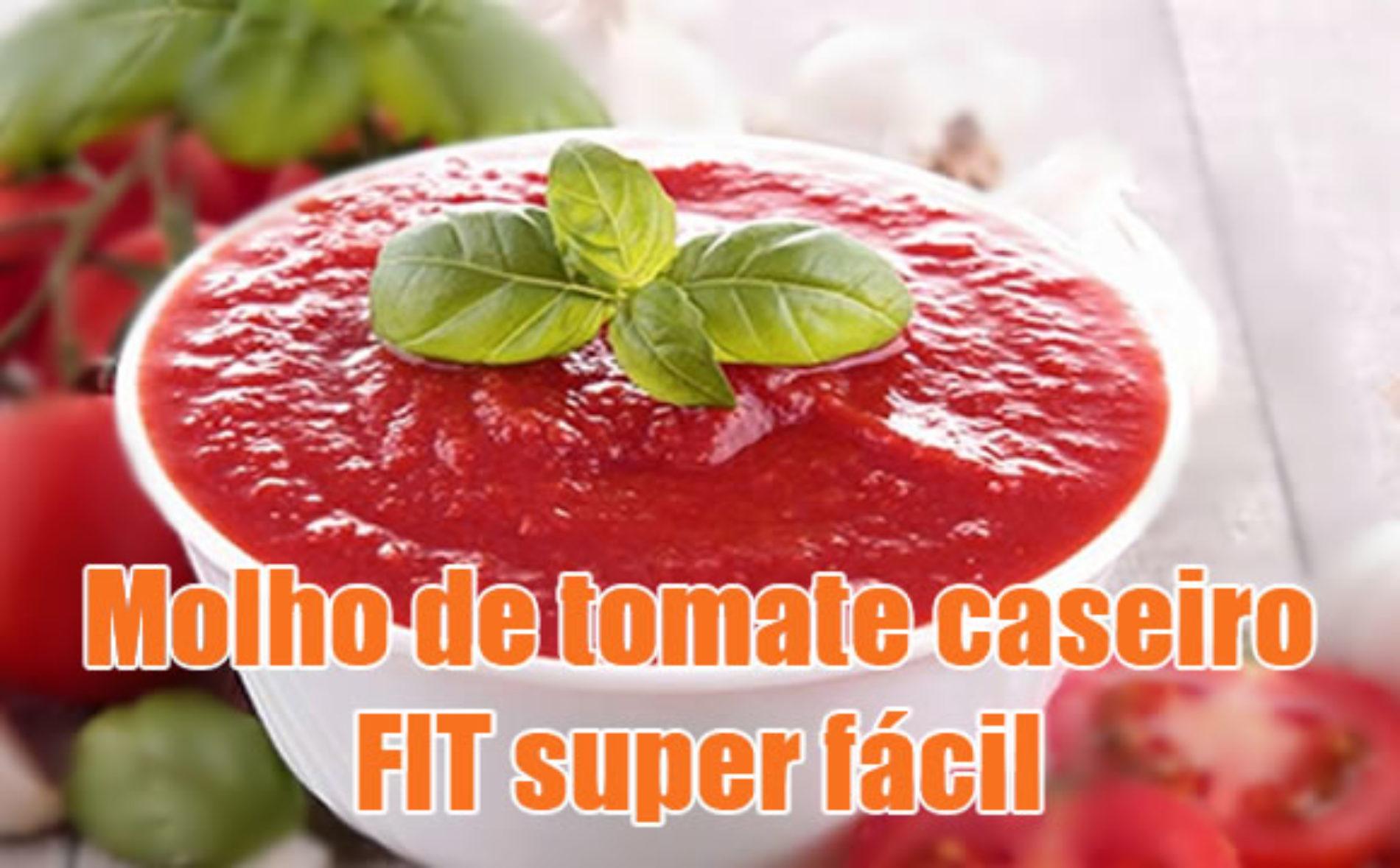 Molho de tomate caseiro FIT super fácil