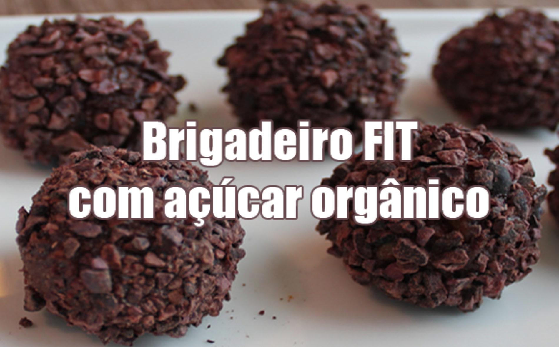 Brigadeiro FIT com açúcar orgânico e leite em pó desnatado